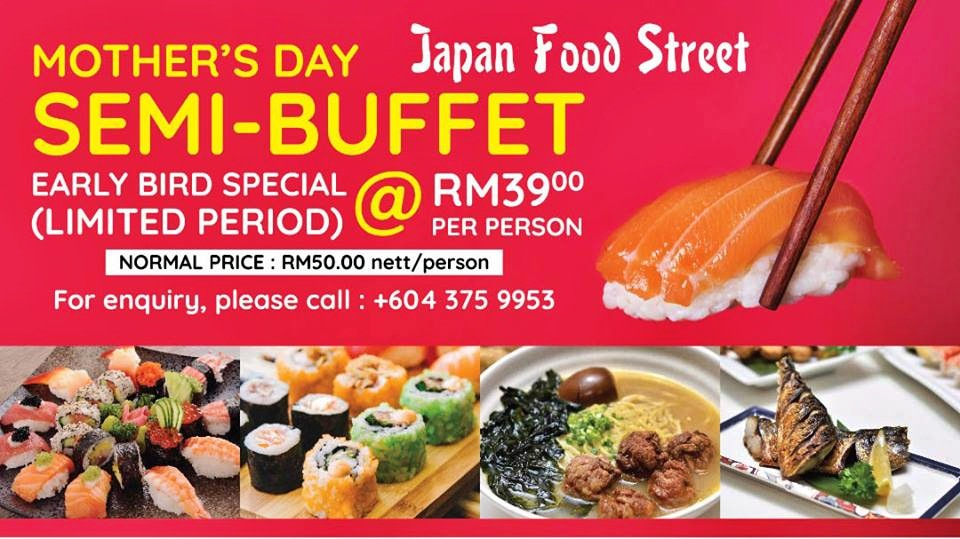 Mother's Day Semi Buffet @ Level 5, Japan Street Food, The Top